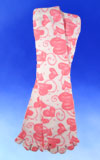 Pink Heart Scroll Socks