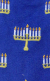 Blue Menorah Hanukkah Socks