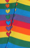 Rainbow Hearts up the Back Knee-High Socks