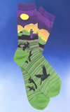 Whimsical Lighthouse Scene Socks