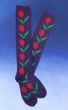 Rosy Tulips Knee-High Socks