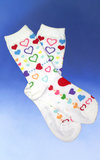 Hearts of Many Colors Socks