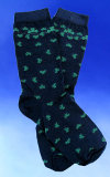 Women's Navy Blue Clover Socks