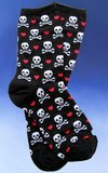 Hearts and the Jolly Roger Socks