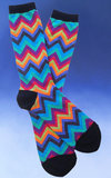 Men's Multi-Colored Chevron - on black