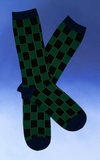 Men's Green Checkerboard