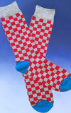 Men's Checkerboard Feet