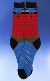 Men's Red Lighthouse Socks