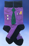 Men's Geek at Work Socks –Purple