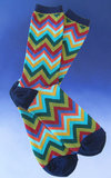 Men's Blue Chevron Socks
