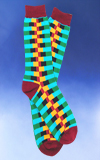 Men's Colorful Zipper Pattern Socks