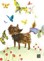 Doggie with butterflies