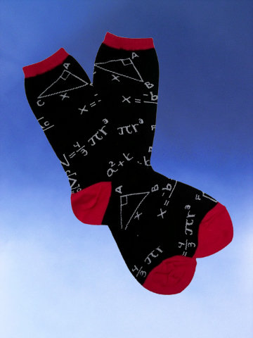 Mathematician Socks - Click Image to Close