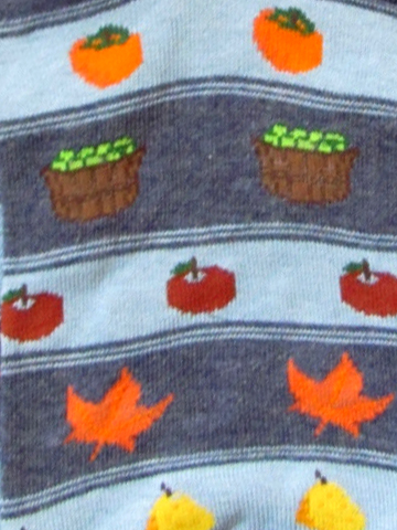 Fall Harvest Socks - in blue - Click Image to Close