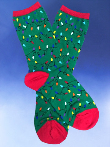 String of Christmas Lights Socks - Click Image to Close