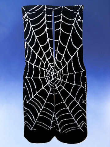Glow in the Dark Spider Web Socks - Click Image to Close