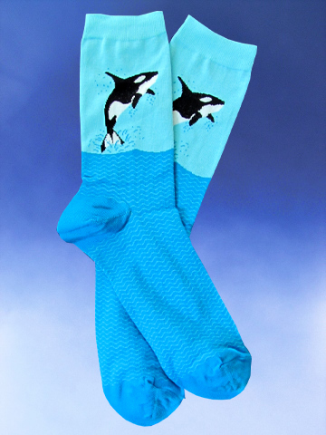 Orca Socks - Click Image to Close