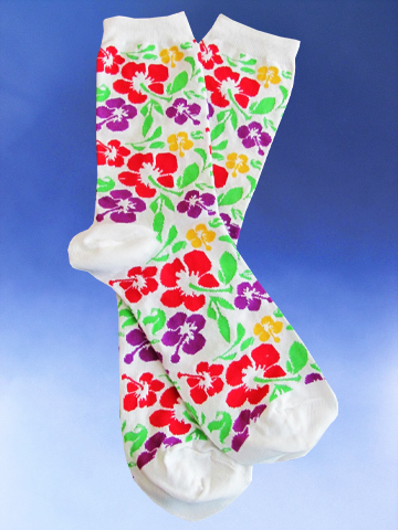 Hibiscus Socks - Click Image to Close