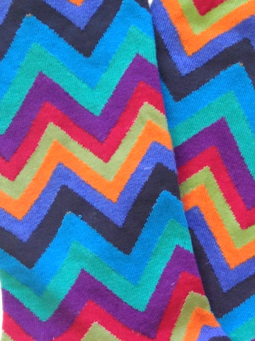Men's Multi-Colored Chevron - on black - Click Image to Close