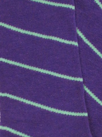 Men's Purple and Green Striped Socks - Click Image to Close