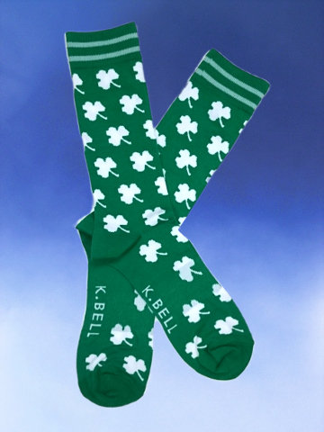 Men's White Clovers Socks - Click Image to Close