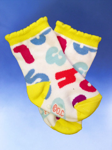 "Baby ""I Can Count"" Socks - Click Image to Close"