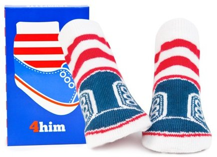 4 Him Patriotic Baby Socks - Click Image to Close