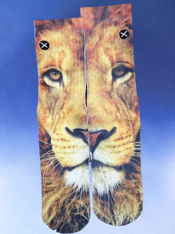 Children's Lion Face Socks - Click Image to Close
