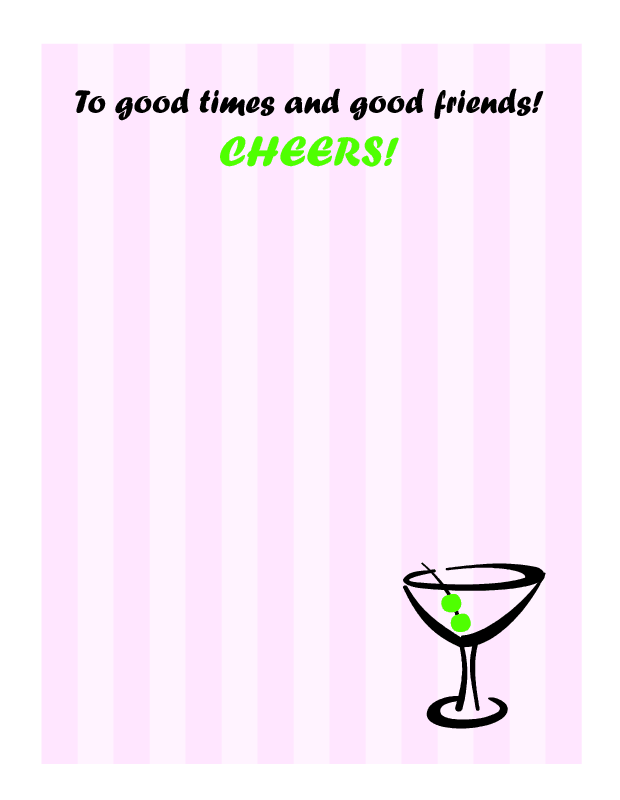 To good times and good friends - Cheers! - Click Image to Close