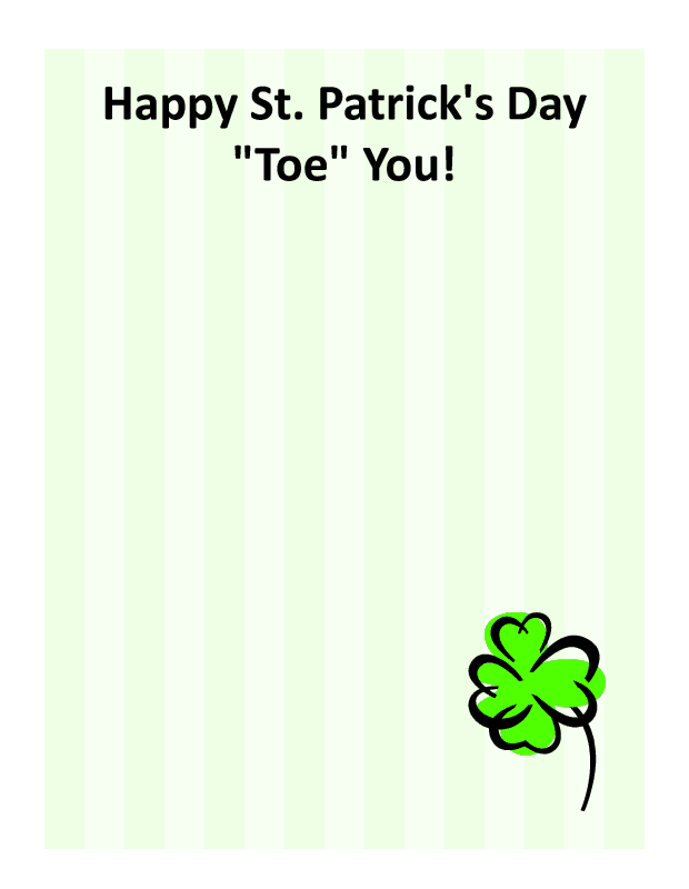 Happy St. Patrick's Day Toe You! - Click Image to Close